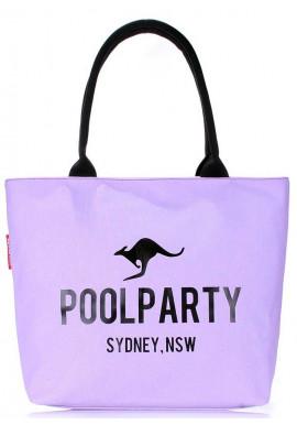 Фото Тканевая сиреневая женская сумка Poolparty Pool-9 Lilac