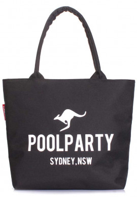 Фото Женская сумка из оксфорда Poolparty Pool-9 Oxford Black