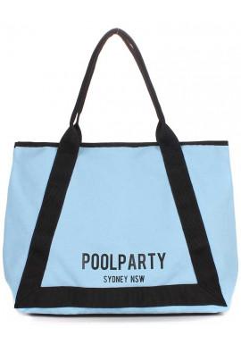 Фото Голубая женская сумка из 100% хлопка Poolparty Laguna Blue