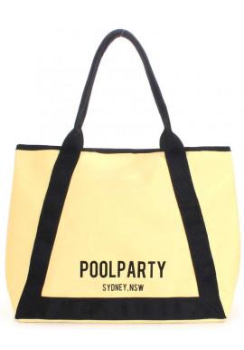 Фото Летняя желтая женская сумка Poolparty Laguna Yellow