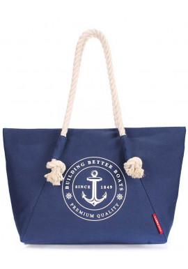 Фото Синяя пляжная женская сумка Poolparty Pool Breeze Darkblue