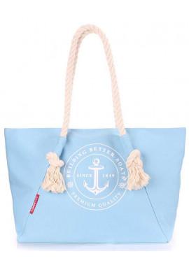 Фото Голубая пляжная женская сумка Poolparty Pool Breeze Lightblue