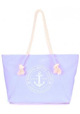 Фото Сиреневая женская сумка для пляжа Poolparty Pool Breeze Lilac