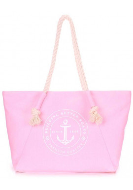 Фото Розовая женская сумка для пляжа Poolparty Pool Breeze Rose