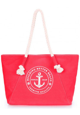 Фото Пляжная сумка красного цвета Poolparty Pool Breeze Red