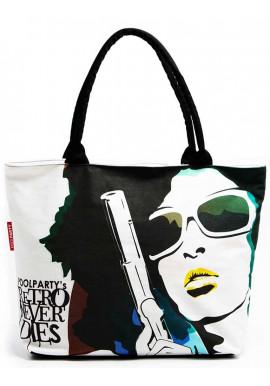 Фото Городская женская сумка Poolparty Pool-100 Never Die