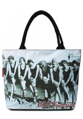 Фото Хлопковая женская сумка на лето Poolparty Pool-100 Swimteam