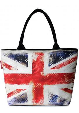 Фото Женская сумка с британским флагом Poolparty Pool Journey UK