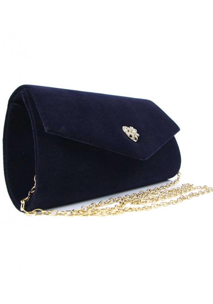 Фото Модная сумочка из синего велюра Rose Heart 103056-1