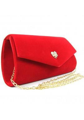 Фото Модная сумочка из красного велюра Rose Heart 103056-1