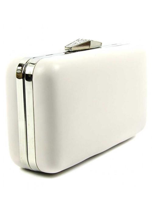Белый женский клатч-бокс 09829-2