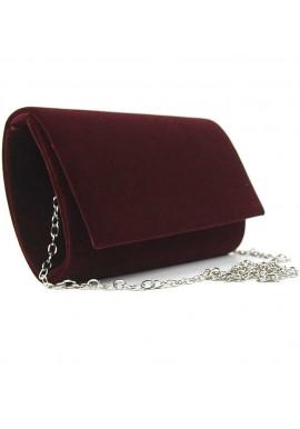 Фото Бордовый женский клатч из ткани Rose Heart