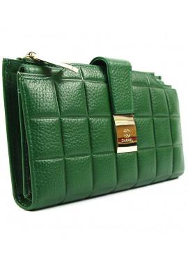 Фото Зеленый кожаный женский кошелек CH 6911