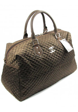 Фото Коричневая дорожная женская сумка из ткани CH 5340-1