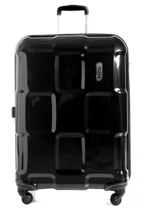 Блестящий черный чемодан на колесах Epic Crate EX L Black Metal