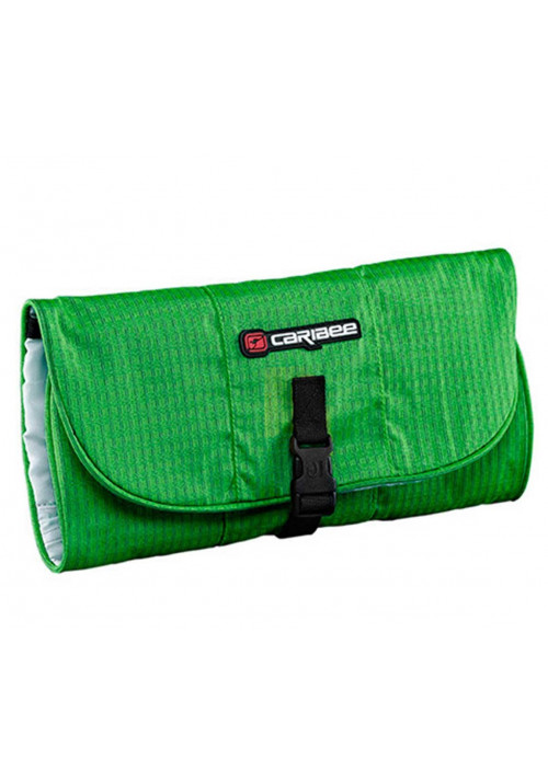 Зеленая дорожная косметичка Caribee Toiletry Wrap Green Pea