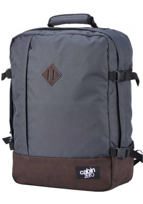 Сумка-рюкзак из серой ткани Cabin Zero Vintage 44L Original Grey