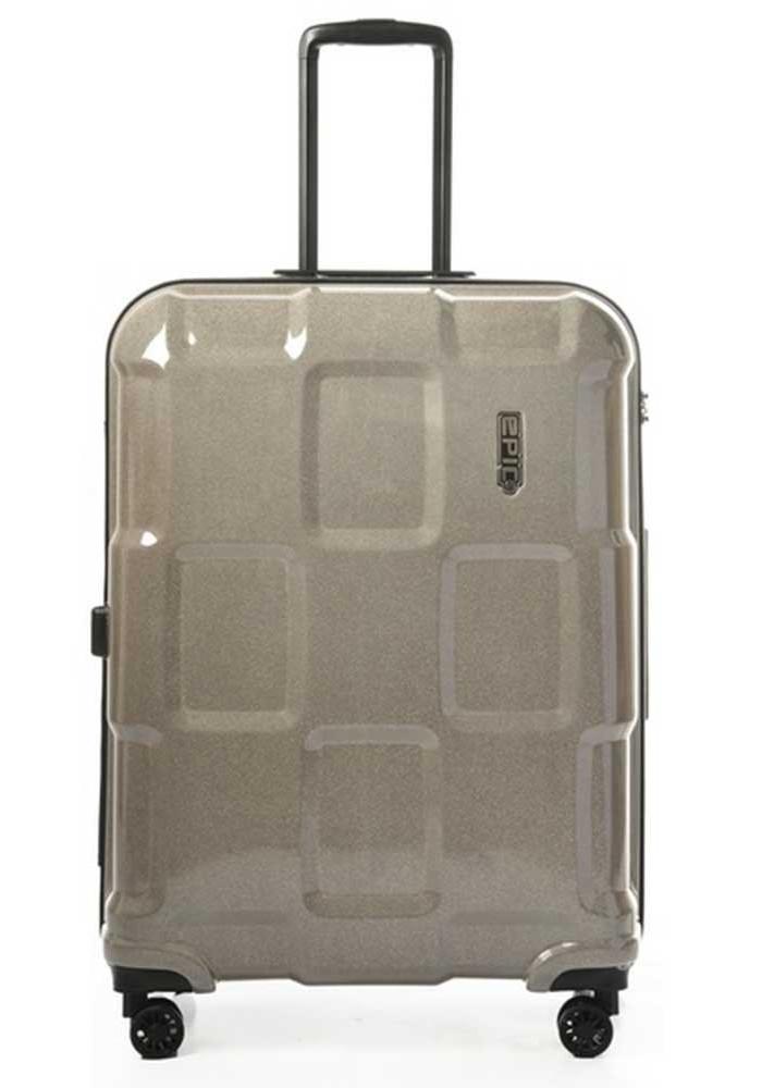 Лаковый чемодан на колесах Epic Crate Reflex L Sparkling Champagne