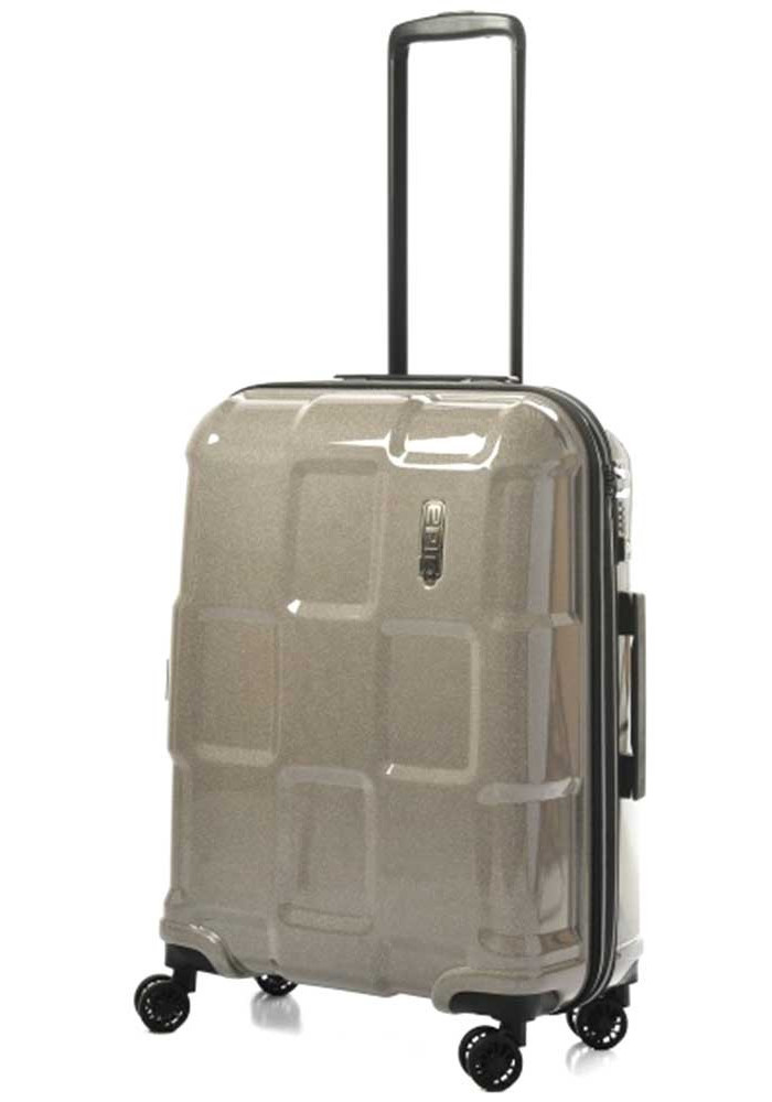 Фото Блестящий чемодан на колесах Epic Crate Reflex М Sparkling Champagne