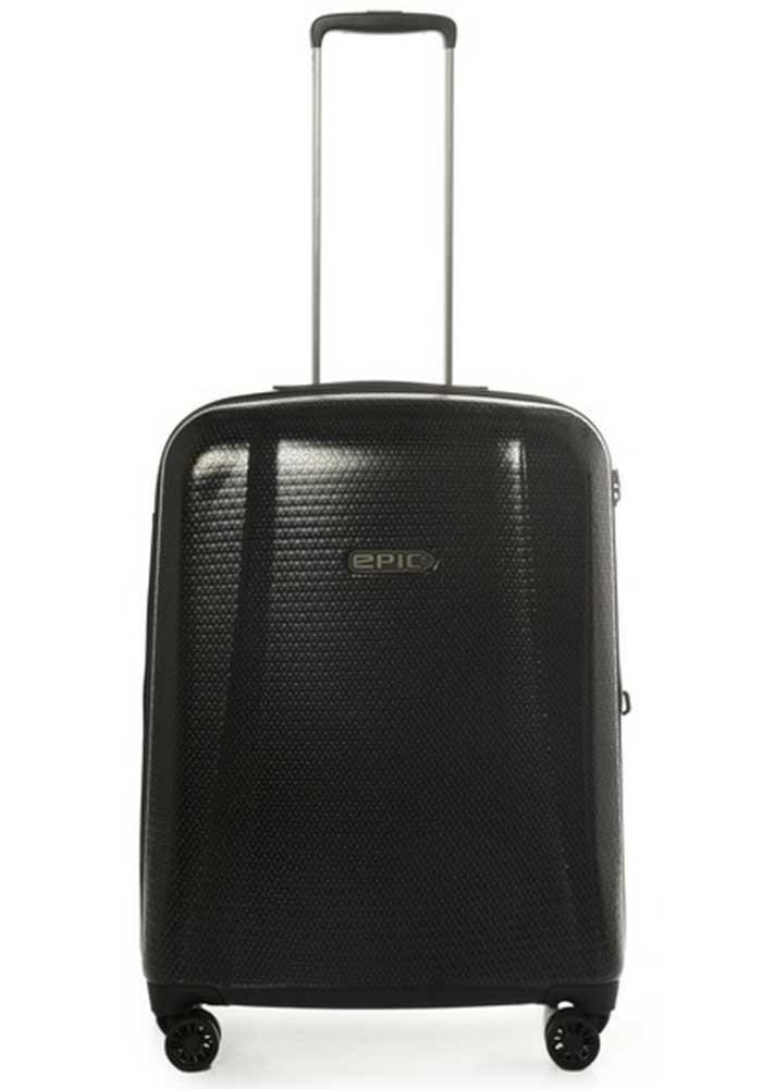 Темный чемодан на колесах Epic GTO 4.0 M Frozen Black