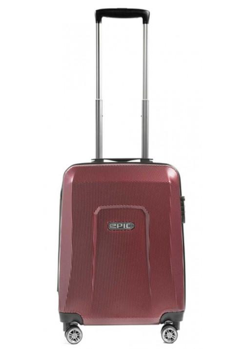 Стильный чемоданчик с колесами Epic HDX S Burgundy Red
