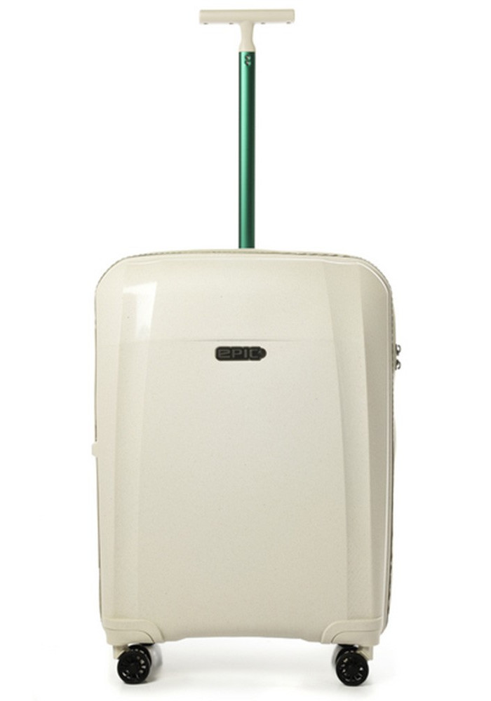 Модный чемодан на колесах Epic Phantom BIO M Natural White