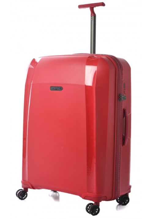 Красный чемодан на колесах Epic Phantom SL L Chili Pepper