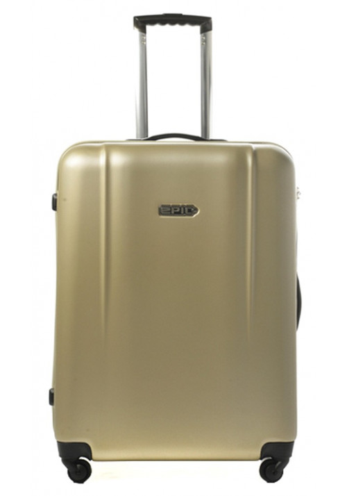 Бежевый чемодан с колесами Epic POP 4X IV L Cava