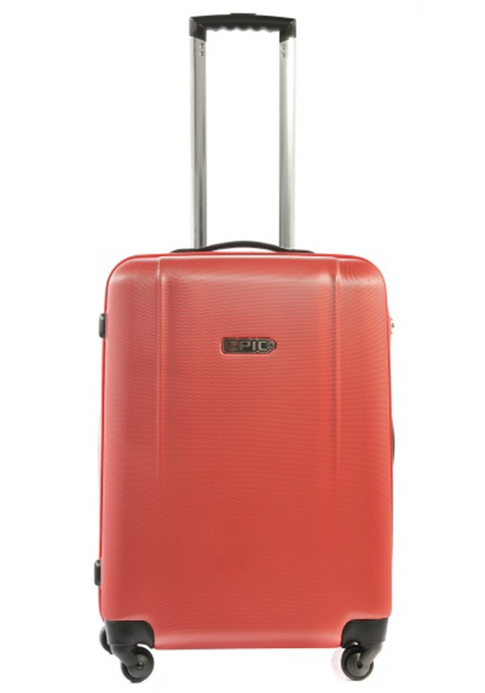 Яркий чемодан с колесами Epic POP 4X IV M Aurora Red