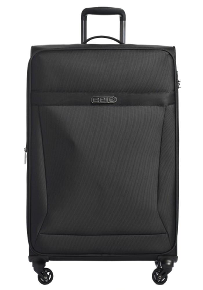 Тканевый чемодан на колесах Epic Quantum L Black