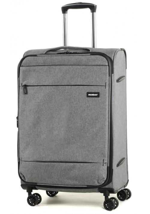 Серый чемодан на колесах Members Beaufort M Grey