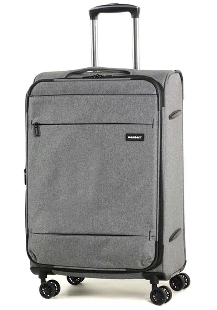 Фото Серый чемодан на колесах Members Beaufort M Grey