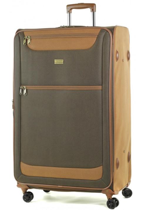 Огромный чемодан на колесах Members Boston XL Dark Brown