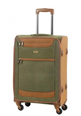 Фото Оливковый чемодан на колесах Members Boston M Olive Green