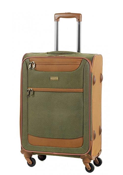 Оливковый чемодан на колесах Members Boston M Olive Green