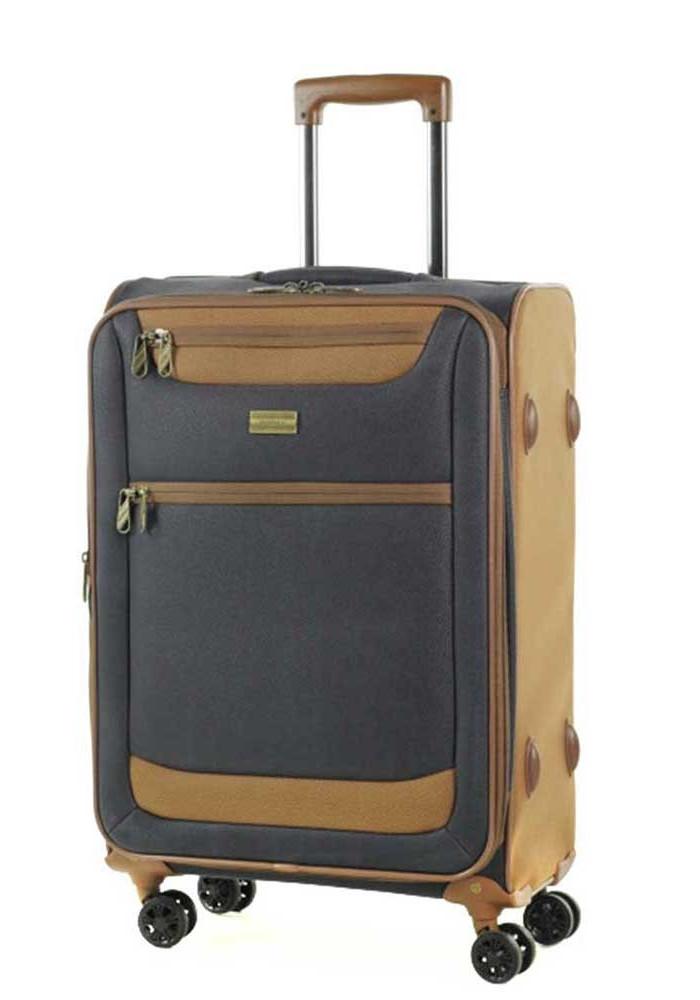 Средний чемодан на колесах Members Boston M Navy