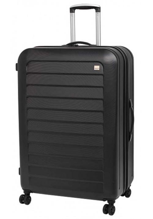 Черный чемодан с колесами Members Chevron L Black