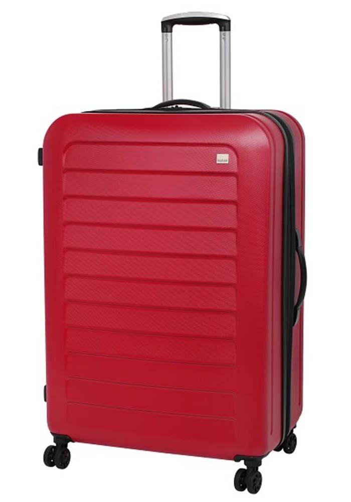 Красный чемодан с колесами Members Chevron L Red