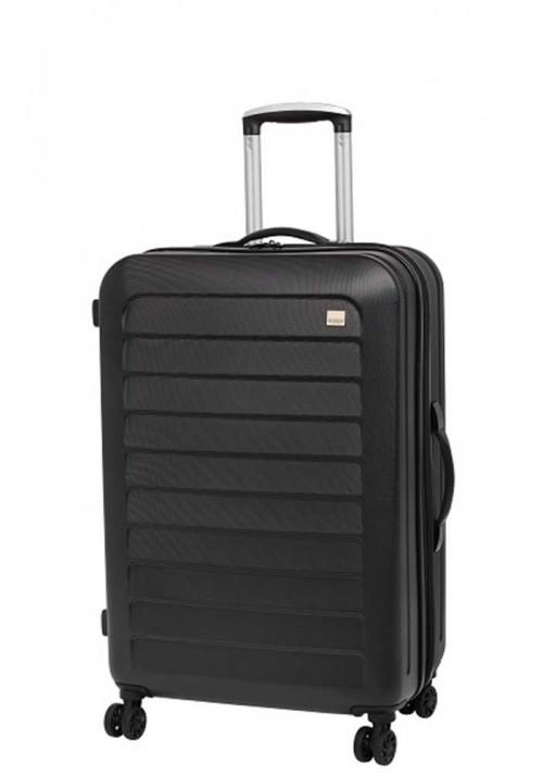 Прочный чемодан с колесами Members Chevron M Black