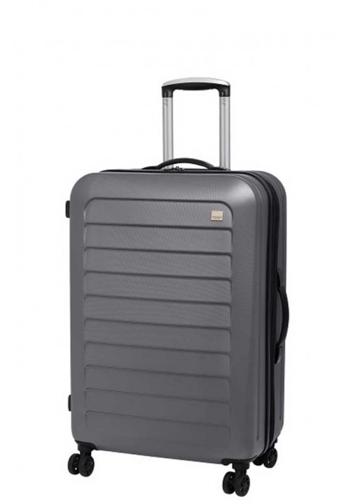 Крепкий чемодан с колесами Members Chevron M Grey