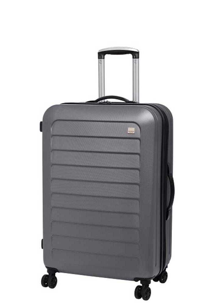 Фото Крепкий чемодан с колесами Members Chevron M Grey