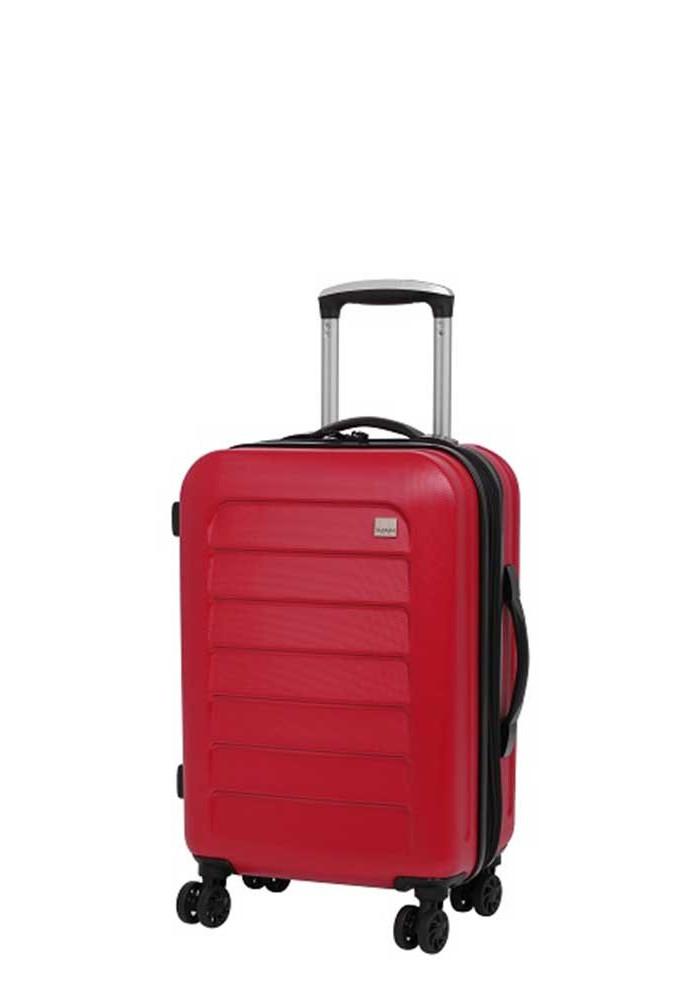 Компактный чемодан с колесами Members Chevron S Red