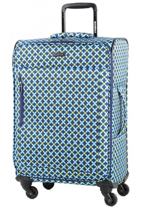 Чемодан на колесах с рисунком Members Vogue M Blue Geo Print