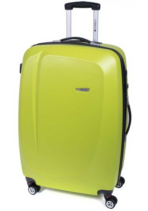 Оливковый чемодан на колесах Gabol Line L Pistachio