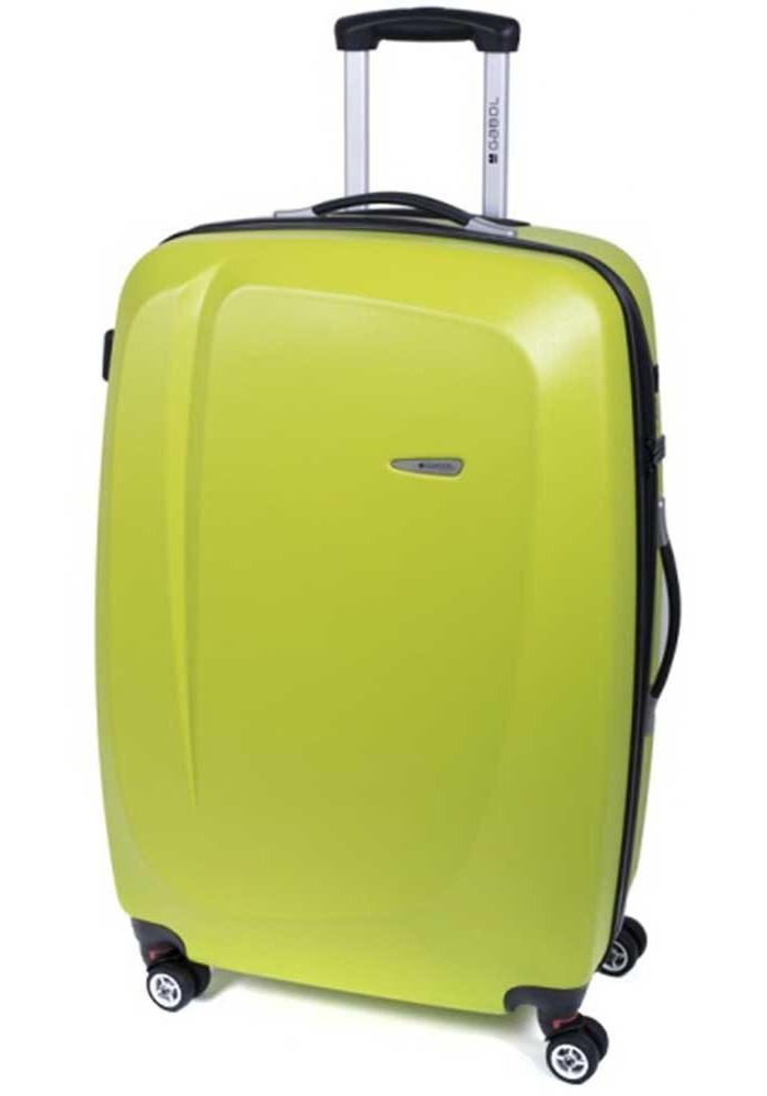 Фото Оливковый чемодан на колесах Gabol Line L Pistachio