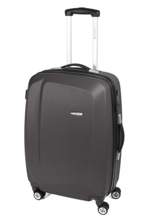 Темно-серый чемодан на колесах Gabol Line M Grey