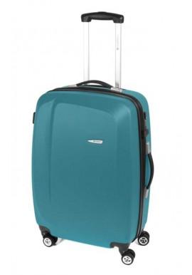 Фото Красивый чемодан на колесах Gabol Line M Turquoise