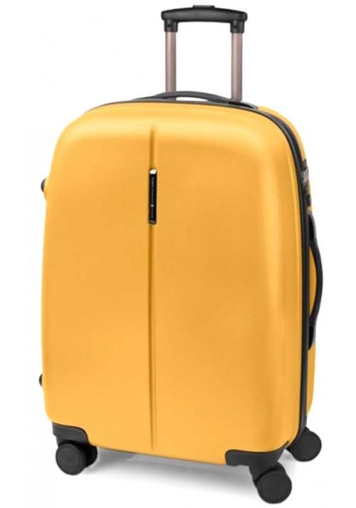 Чемодан на колесах желтого цвета Gabol Paradise M Mustard