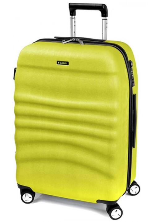 Салатовый чемодан на колесах Gabol Wrinkle L Pistacho