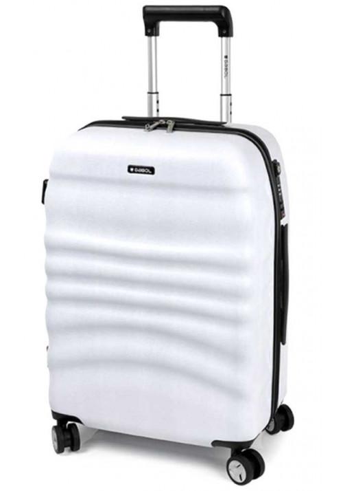 Светлый чемодан на колесах Gabol Wrinkle M White